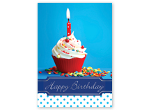 Happy Birthday Cupcake Birthday Cards