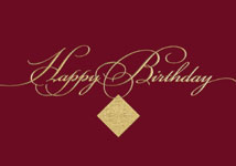 Gold Medallion Happy Birthday Cards